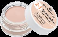 Тени для век и база 2 in 1 Eyeshadow & Primer Essence 01 nude beige: фото