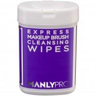 Экспресс-очищающие салфетки для макияжных кистей с антибактериальным эффектом Manly Pro КО09 50шт: фото