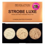 Палетка хайлайтеров Makeup Revolution Strobe Luxe Palette: фото