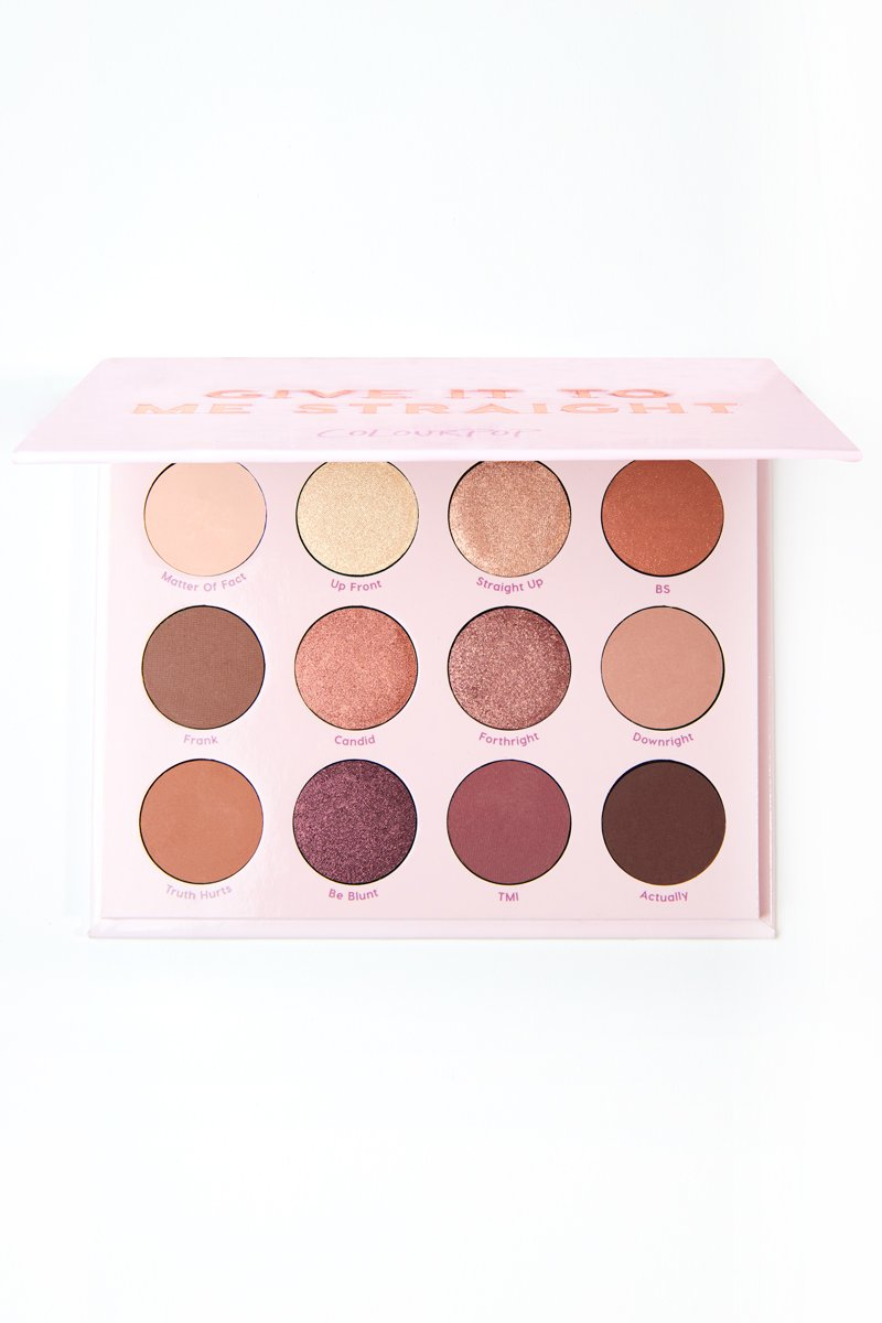 Палетка теней ColourPop GIVE IT TO ME STRAIGHT: фото