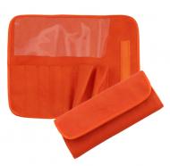 Футляр для 7 кистей ВАЛЕРИ-Д (иск. кожа) оранжевый: фото