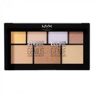 Палетка иллюминаторов NYX Professional Makeup STROBE OF GENIUS ILLUMINATING PALETTE: фото