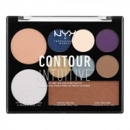 Палетка иллюминаторов NYX Professional Makeup CONTOUR INTUITIVE PALETTE - JEWEL QUEEN 04: фото