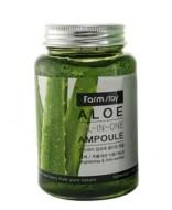 Сыворотка ампульная с экстрактом алоэ FARMSTAY Aloe all-in one ampoule 250мл: фото