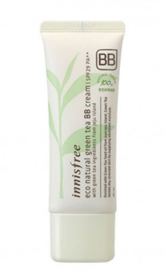 BB-крем с зеленым чаем INNISFREE Eco Natural Green Tea BB-Cream SPF29 №1 Light Beige: фото