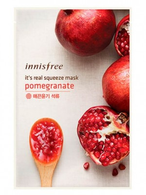 Маска для лица с гранатовым соком INNISFREE It's Real Squeeze Mask Pomegranate: фото