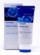 ВВ-крем с коллагеном улажняющий FARMSTAY Collagen water full moist primer BB-cream 50 мл: фото