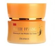 Крем вокруг глаз омолаживающий с женьшенем DEOPROCE Whee hyang whitening & anti-wrinkle eye cream 30г: фото