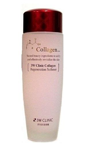 Тоник-софтнер регенерирующий с коллагеном 3W CLINIC Collagen Regeneration Softener 150mмл: фото