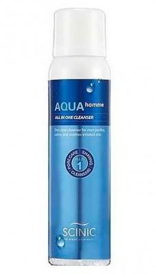 Крем-пенка для бритья и умывания для мужчин SCINIC Aqua homme all in one cleanser 100мл: фото