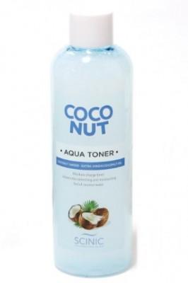 Увлажняющий тонер с кокосовым молочком SCINIC Coconut aqua toner 500мл: фото