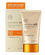 Солнцезащитный осветляющий крем для лица SPF50 THE FACE SHOP Natural Sun Eco Power Longlasting Sun: фото