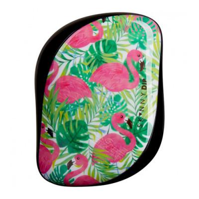 Расческа TANGLE TEEZER Compact Styler Palms & Pineapples розовый/зеленый: фото