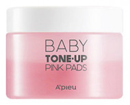 Пады для выравнивания тона лица A'PIEU Baby Tone-up Pink Pads 40шт: фото