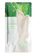 Маска-пилинг для ног с экстрактом алоэ NATURE REPUBLIC REAL SQUEEZE ALOE VERA PEELING FOOT MASK 25г*2шт: фото
