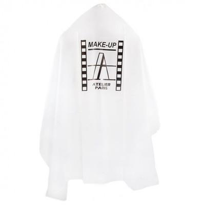 Накидка белая с лого Make-up Atelier CAPB: фото
