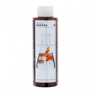 Шампунь для окрашенных волос Korres с подсолнухом и гаультерией 250 мл: фото