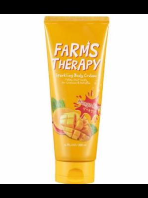 Крем для тела манго FARMS THERAPY Sparkling Body Cream Mango Rush 200 мл: фото