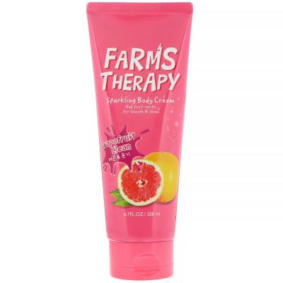 Крем для тела грейпфрут FARMS THERAPY Sparkling Body Cream Grapefruit Clean 200мл: фото